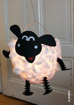 Laterne Schaf selber machen