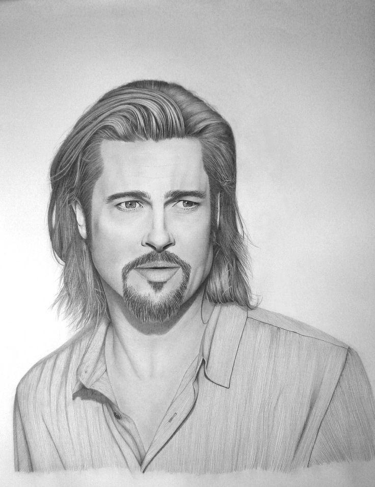 'Brad Pitt' graphite drawing