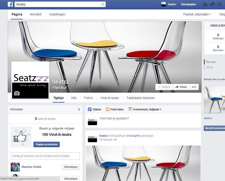 Facebook pagina Seatzz.