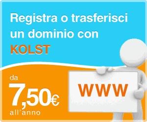 Kolst codice sconto del 25% su tutti i servizi hosting fino al 31 ottobre