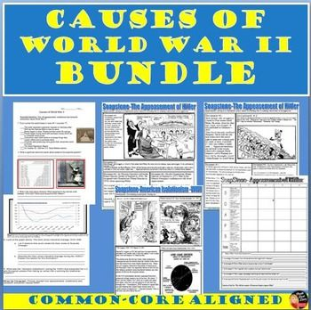 Students will be able to understand the causes of World War II by analyzing several primary sources (political cartoons, speeches, radio-addresses, charts, graphs, etc.) Several documents are included. Pick and choose which documents work best with your class.