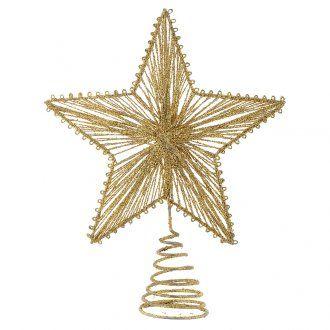 Punta 25 cm Estrella para Árbol de navidad color dorado | venta online en HOLYART