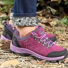 Moda ao ar livre sapatilhas mulheres trekking respirável couro casual outventure viagens escalada montanha plano com sapatos de salto(China (Mainland))