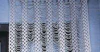 veja a receita e o gráfico para fazer uma cortina de crochê