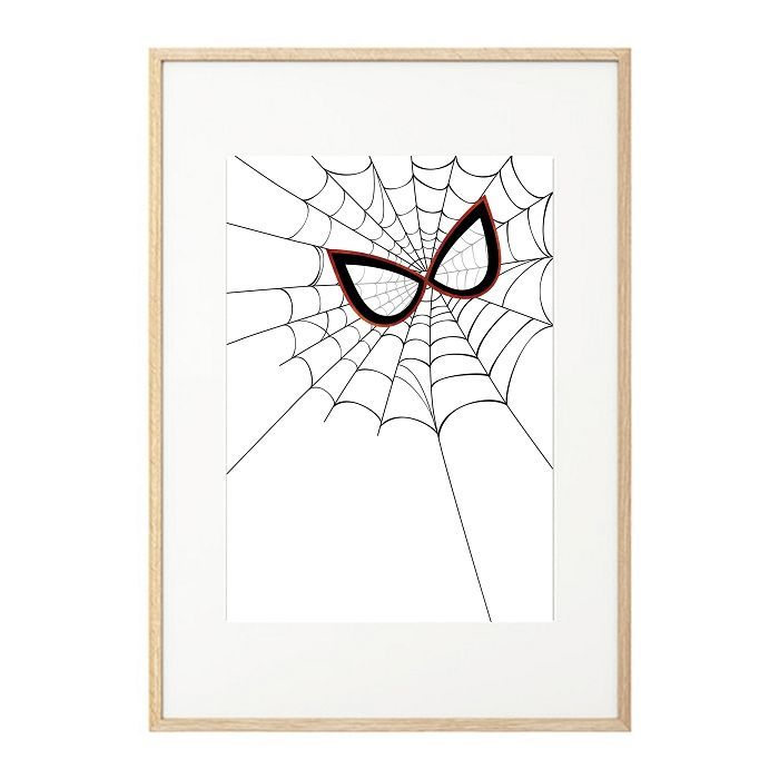 """""""With great power comes great responsibility""""... indeed it does!!   Summon your inner superhero with this stylish, bright and bold Spiderman print by May and Belle - perfect for justice league loving kids bedrooms, playroom or any room in the home!  Printed on matt 200gsm archival, Forest Stewardship Council (FSC) paper at a high quality digital printer.  Fit perfectly into the IKEA RIBBA frames. Frame not included.  Size 30CM x 40CM"""