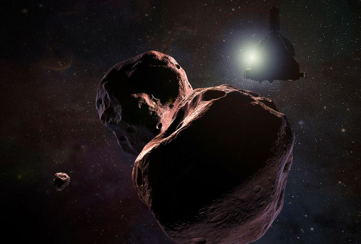 2014 MU69, the next flyby target of NASA's New Horizons spacecraft, might have a moon. Image credit: NASA / JHUAPL / SwRI.
