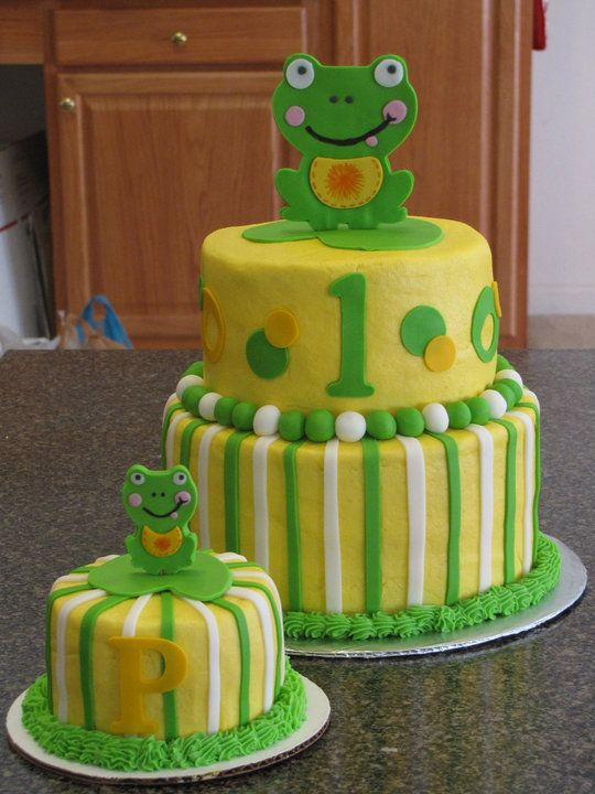 I like the idea of a mini cake that birthday boy/girl can dig into themselves and use the bigger cake for the guests.