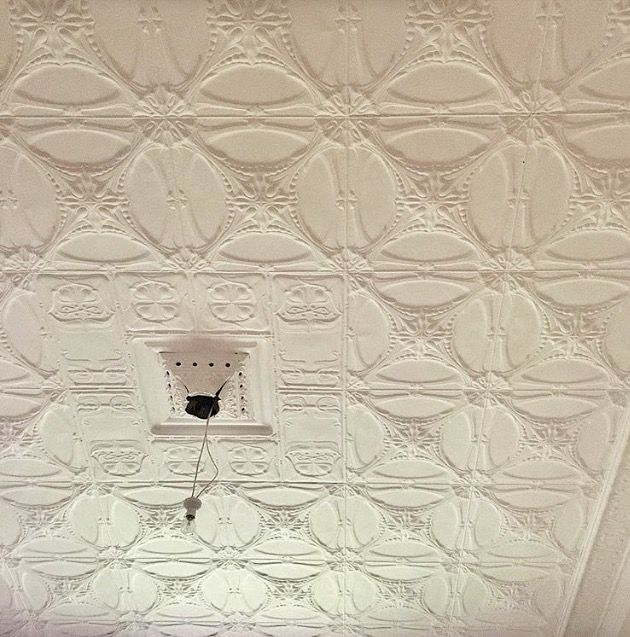 All the ceiling are pressed metal, every ceiling a different pattern... rewired the home