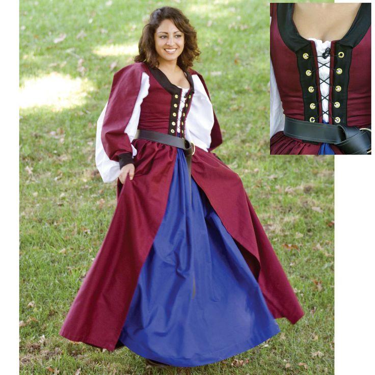 Renaissance Festival Wedding Dresses: 119 Best Medieval Irish Dresses Images On Pinterest
