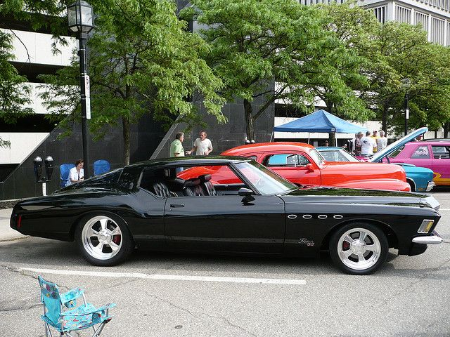 1971 Buick Riviera Gs. For a land yacht, its still a cool car.