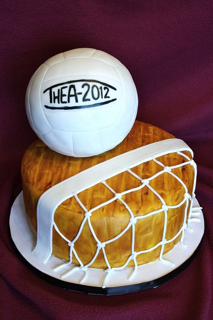 Two of the best things together at last... volleyball and cake!