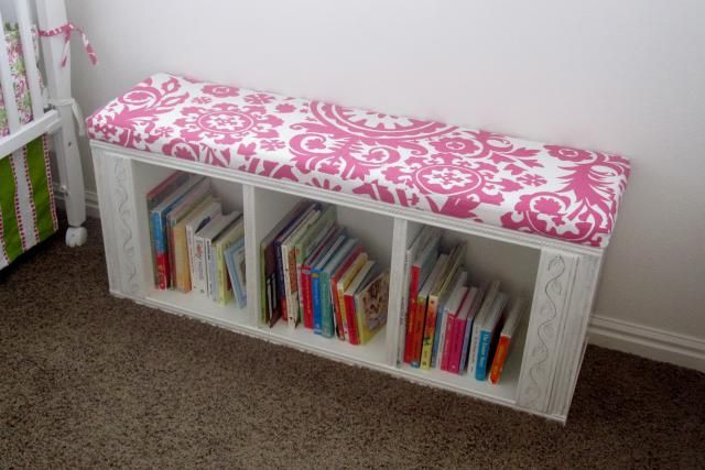 These 23 IKEA BILLY bookcase hacks share how you can transform your home with customized storage that fits your space, style, and budget.: BILLY Book Bench