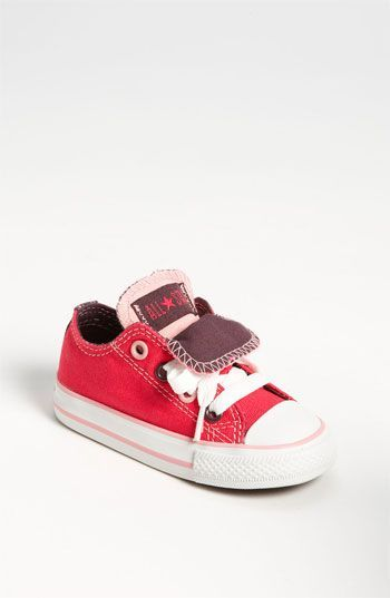 girls converse double tongue sneakers