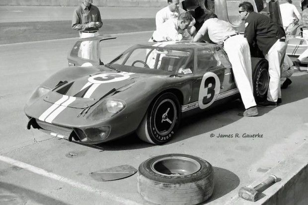 The Mk. II pole sitter of A.J. Foyt and Dan Gurney.  This was one of two Mk. IIs to arrive at Daytona with the Mercury logo on it.  The other four Mk. IIs had Ford logos on the car body.