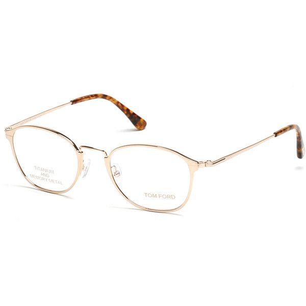 TOM FORD Titanium/Metal Eyeglasses (657275 IQD) ❤ liked on Polyvore featuring…