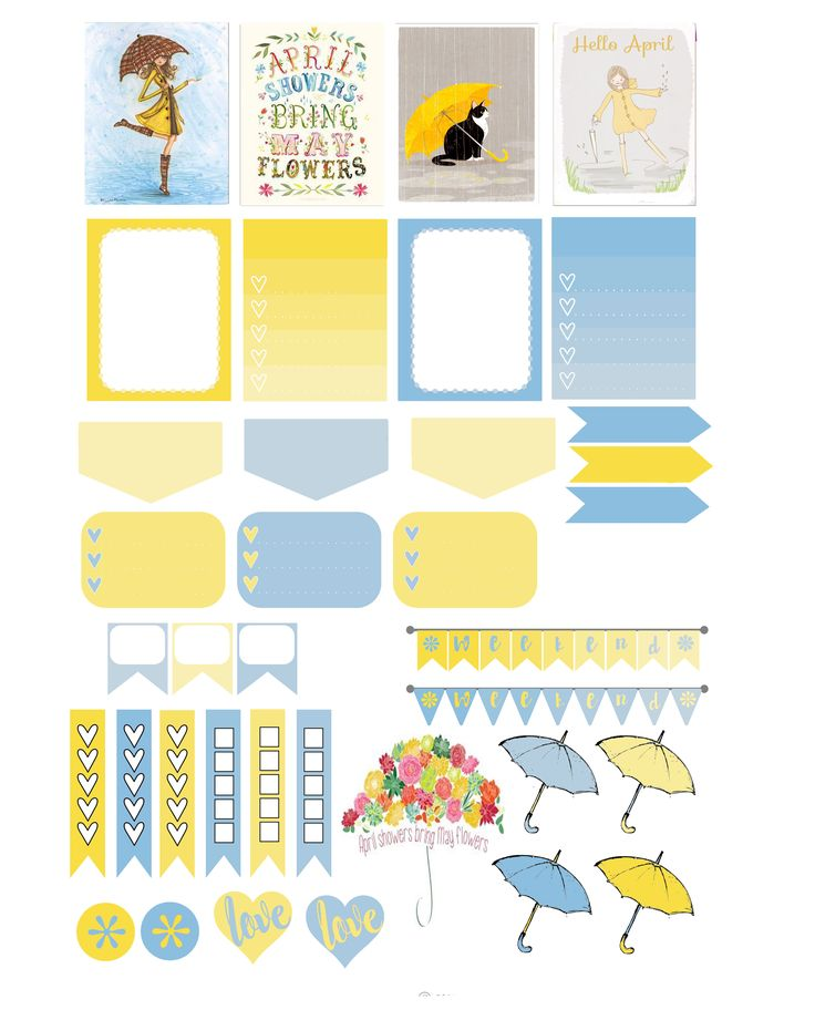 FREE Planner Series: April Showers Printable by Stingy ,Thrifty, Broke