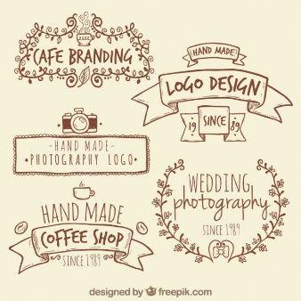 Logotipos retro hechos a mano