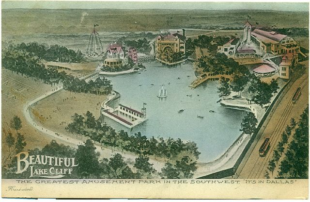 Vintage postcard: Lake Cliff amusement park, Oak Cliff, Dallas, Texas (1907) | Flickr - Photo Sharing!
