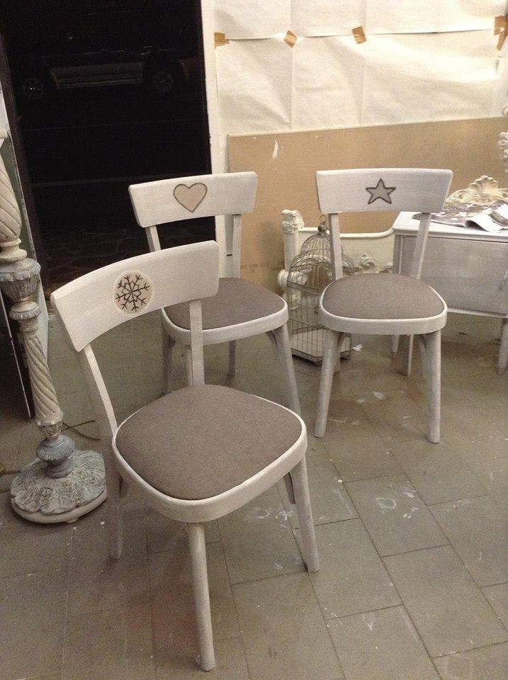 sedie shabby chic for baby snow heart star