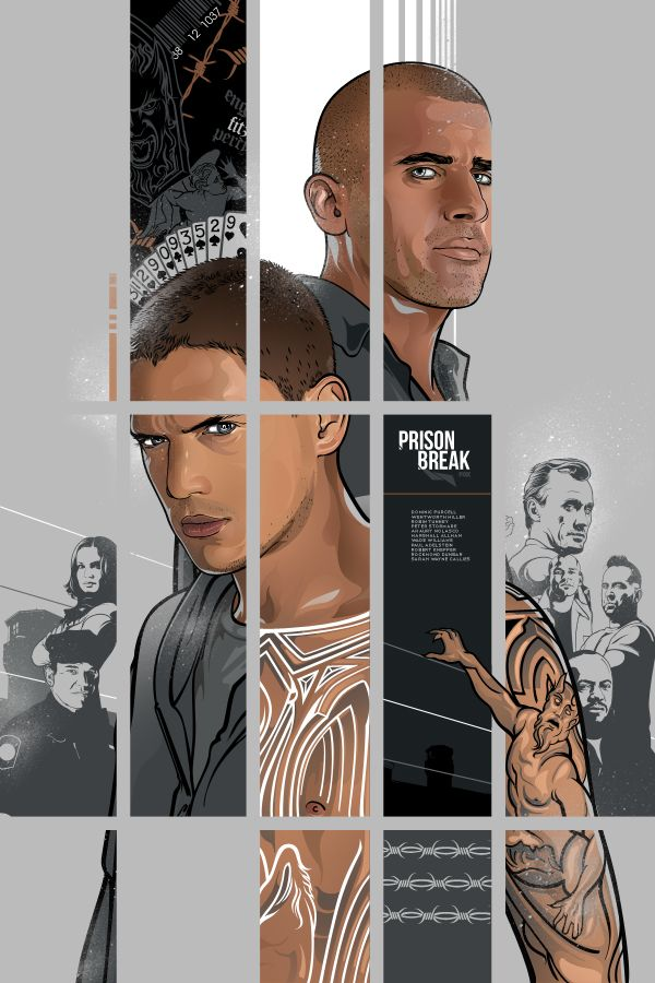 Prison Break (Superb Collection of Poster Art by Vincent Aseo - GeekTyrant)