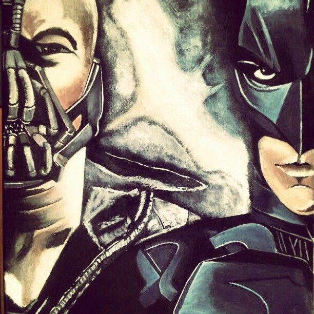 """Bane vs Batman 16x20"""""""