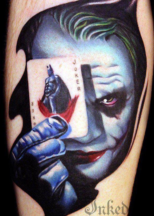 50 best superhero tattoos images on pinterest cool for Joker batman tattoo