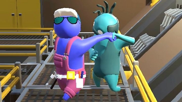 Gang Beasts (Single Player) Funny Fight