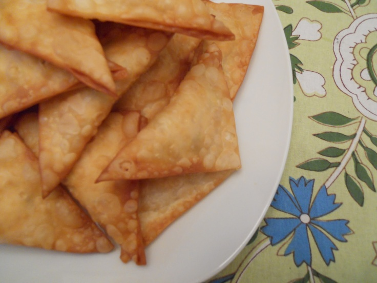 Cream Cheese Wontons (I'd add flaked Crab meat)