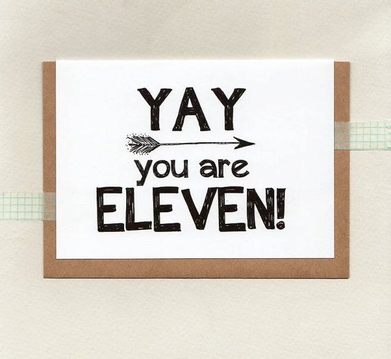 YAY you are ELEVEN or choose another age . kids by ThePaisleyFive