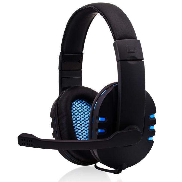 CSL - Headset KEM-613 USB compresa scheda audio esterna / Gamingheadset compresa scheda audio | Edition Gaming Plus (USB) | imbottitura per le orecchie in pelle artificiale / Mesh-Inlay | regolatore volume | nero/azzuro: Amazon.it: Informatica