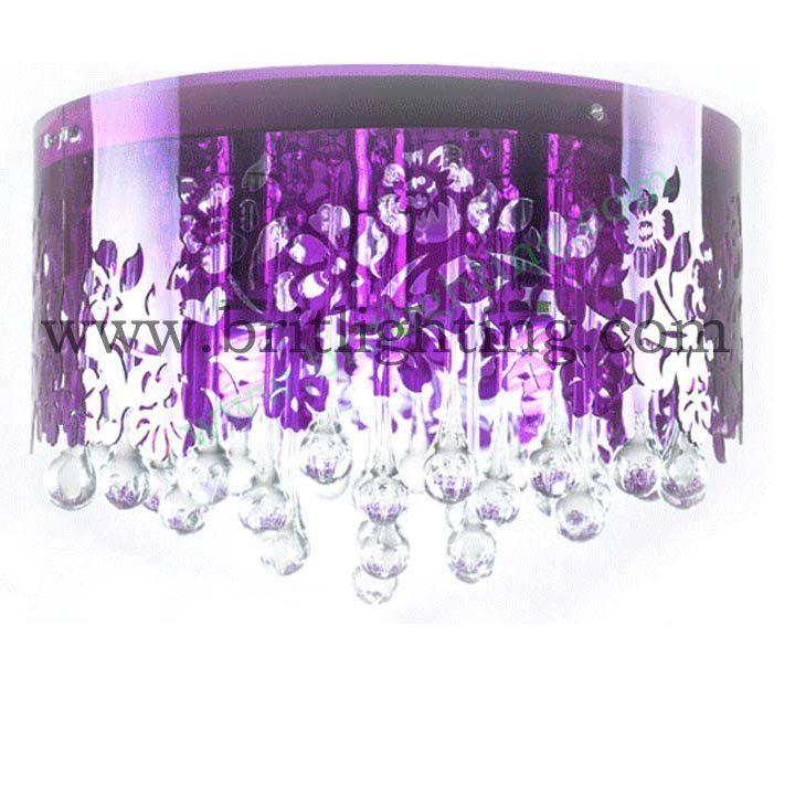 Светодиод для поверхностного монтажа потолка свет потолочные лампы кристалл потолочные для дома фиолетовый цвет роскошный кристалл потолочный светильник светодиодный светильник