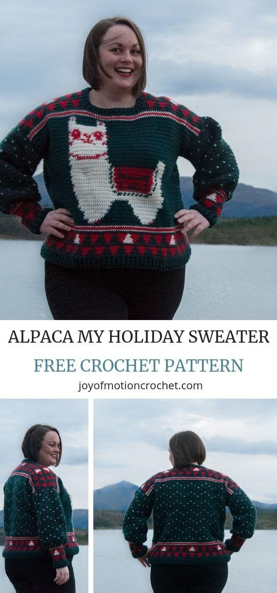 Crochet Ugly Christmas Sweater Free Crochet Pattern Crochet