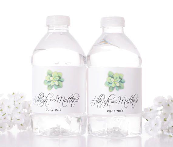 Vintage Wedding Water Bottle Labels  Rustic Wedding by LabelsRus