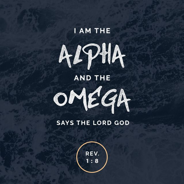 Revelation 1:8 / Scripture / Bible verse / Typography / Words / Art /