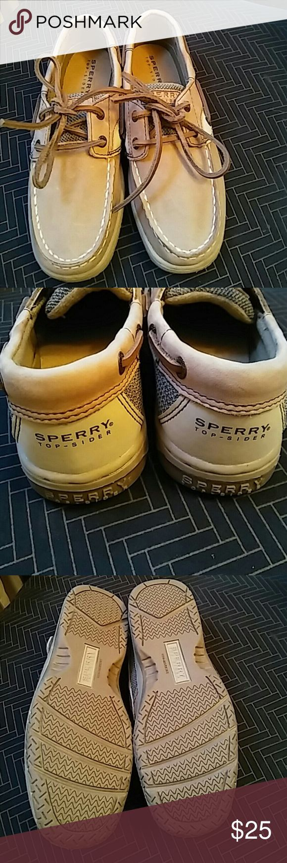 Girls sz 1.5m sperrys top-spider new without box Girls sz 1.5m sperrys top-spider new without box, leather upper, tan colored, (YG19186).  Excellent condition. Message for questions. I take offers.. Sperry Top-Sider Shoes