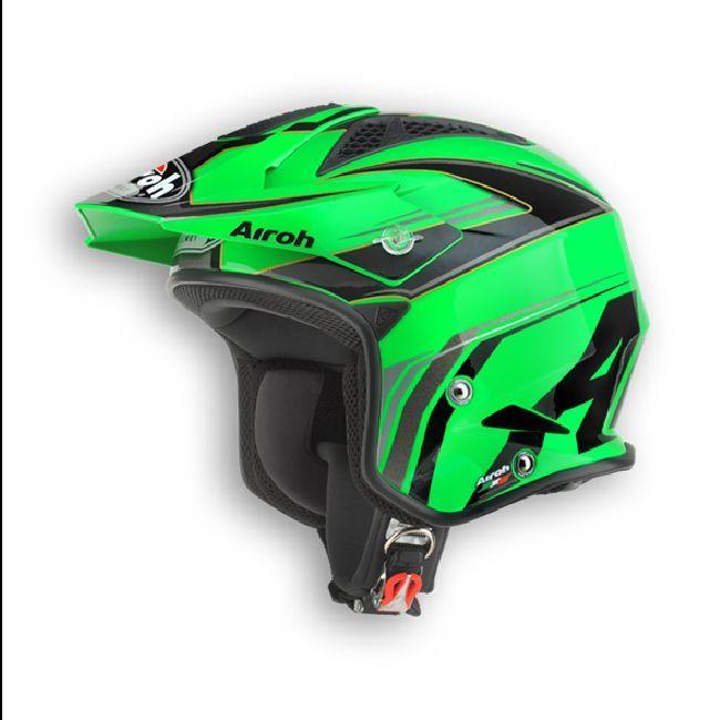 Casco Airoh modello TRR grafica Dapper verde
