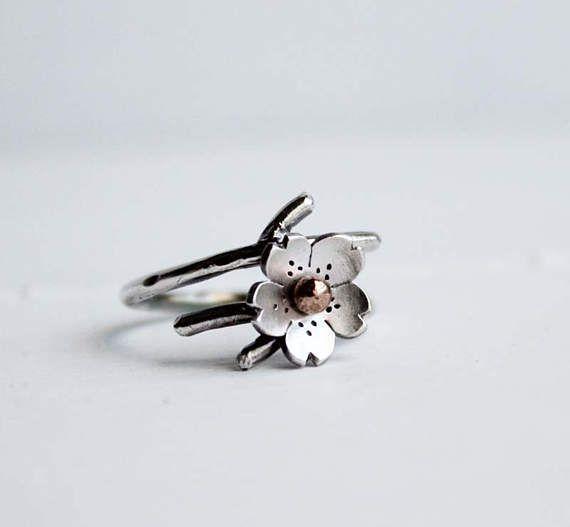 Hapa Girls Cherry Blossom Branch Ring Twig jewelry by HapaGirls