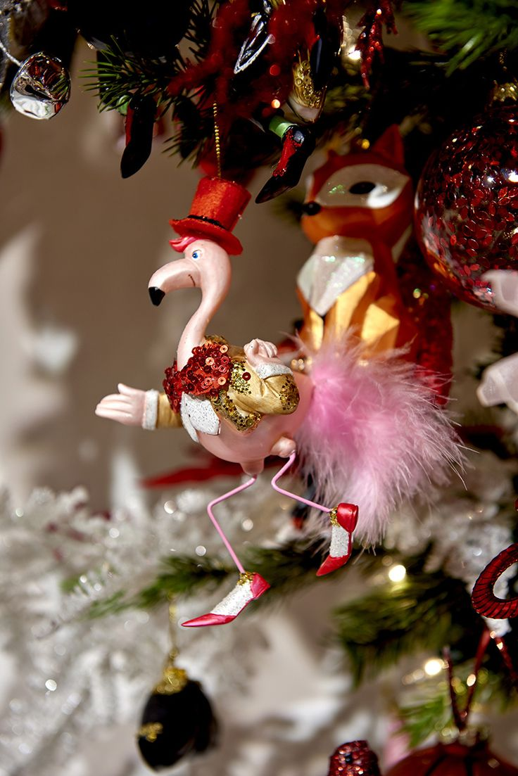 Flamingo And Fox Ornament In The Funky Animals Theme By Goodwill