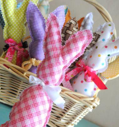 Egyszerű húsvéti nyuszik maradék anyagokból (szabásmintával) / Mindy -  kreatív ötletek és dekorációk minden napra