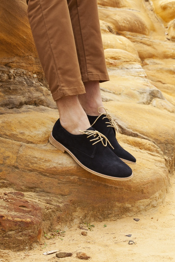 TOMMI in navy suede - $149.95
