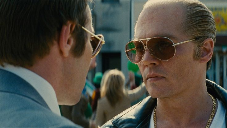 """#JohnnyDepp as #Boston's most notorious #Criminal from early 70's & into the late 80's, #WhiteyBulger, Nicknamed """"Whitey"""", #MafiaBoss to the #WinterHillGang,  an especially vicious enterprise in a business not known for delicacy, in #BlackMass   #FilmCredit: @warnerbrosent    #Director:  #ScottCooper   #Written by #MarkMallouk - #JezButterworth, based on the book by Dick Lehr & Gerard O'Neill   Anatomy of a Scene   'Black Mass' http://nyti.ms/1KixcqY - @nytimes - nytimes.com"""