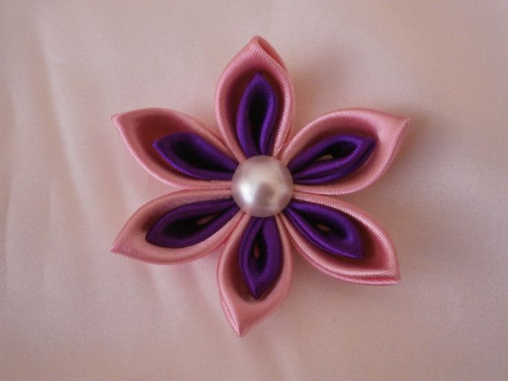 Kanzashi flower tutorial, How to,DIY,fabric flowers,easy