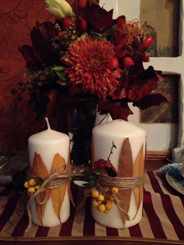 Букет невесты и свечи
