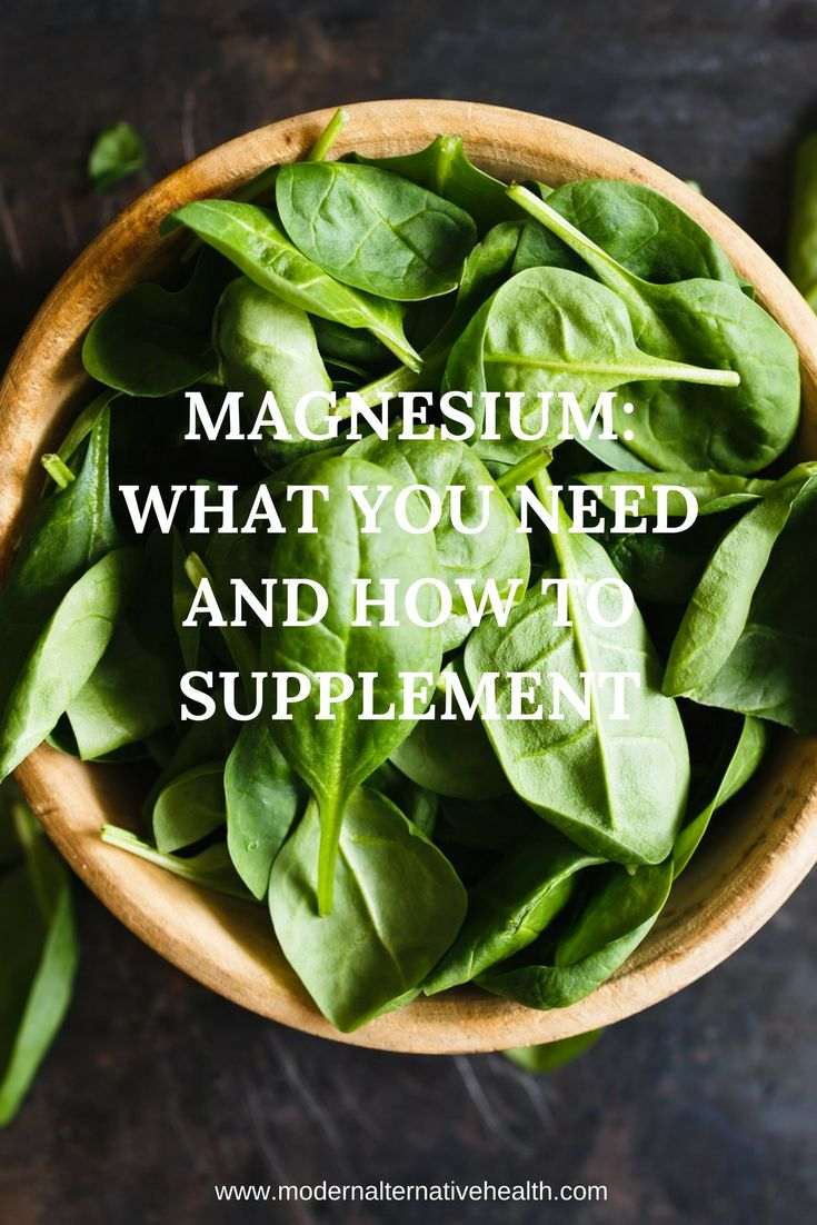 Magnesium: What You Need And How To Supplement - Modern Alternative Health
