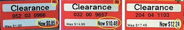 Target Clearance Schedule and How to Read the Clearance Tags