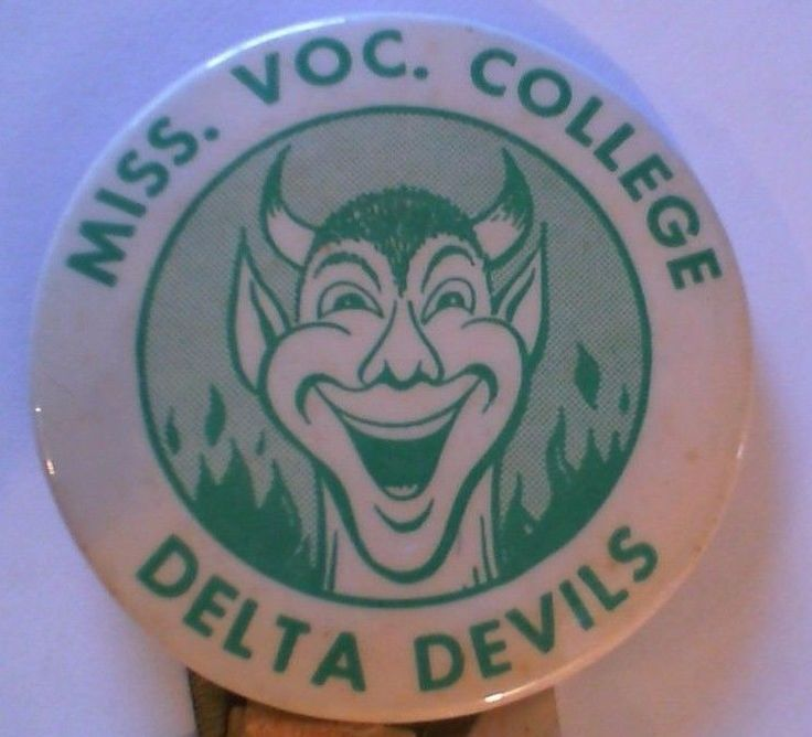 1950s Delta Devils Football Lapel Pin - Mississippi Vocational College Itta Bena #MississippiValleyStateDeltaDevils