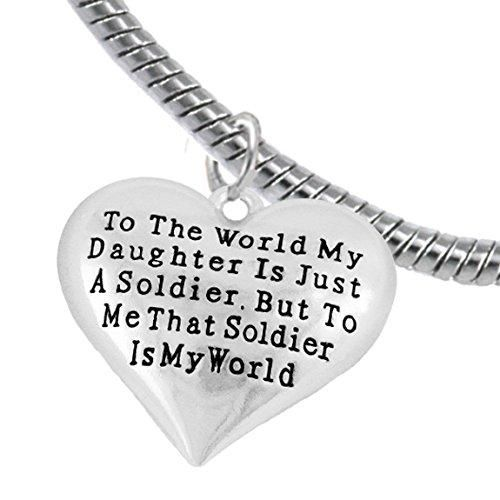 Army, Enlisted Daughter, My Daughter Is My World, Hypoallergenic, Safe-Nickel, Lead, Free