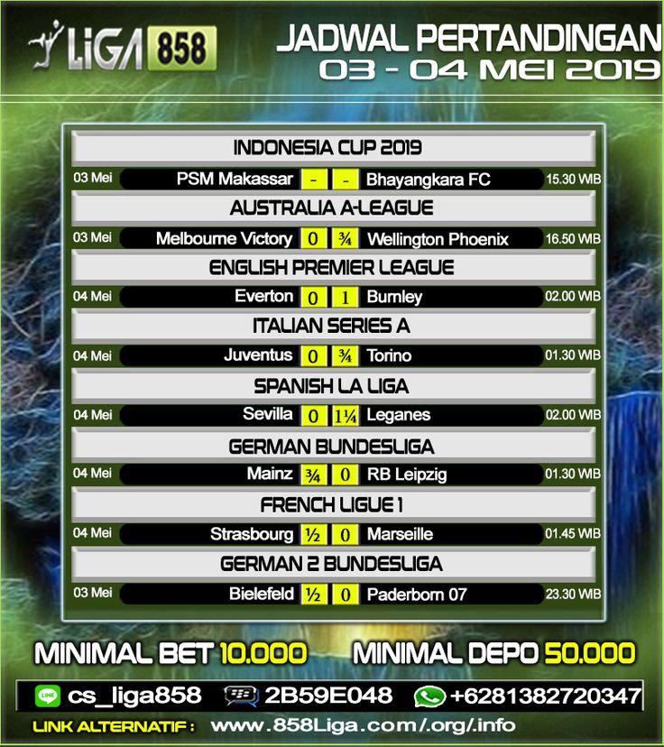 Jadwal Pertandingan Sepak Bola Tanggal 03 04 Mei 2019