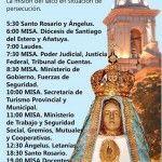Solemnidades en honor a Nuestra Madre del Valle: Programa del miércoles 15 de Abril de 2015
