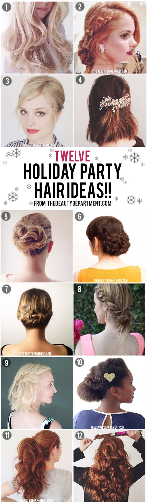 Our favorite hair tutorials for holiday, all in one place! New Years party? Holiday party? No problem!